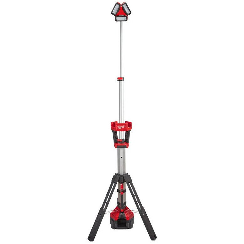 Milwaukee M18HSAL-502B M18 Rocket LED Tower Light Charger With 110v Output (2 x 5.0ah batteries, charger, bag)