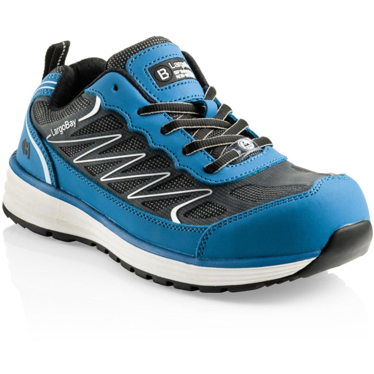 Buckler Boots Liz Largo Bay Ladies Blue Leather/KPU Non-Metallic Safety Trainer S1 P HRO SRC