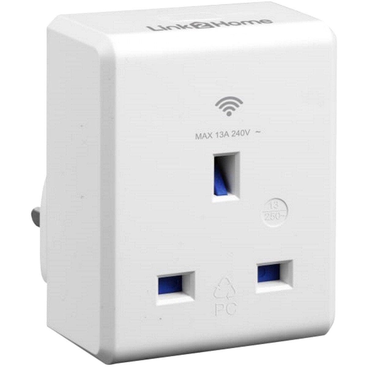 Link2Home L2H-SMARTPLUG Wi-Fi Plug-in Socket 13 amp LTHSMARTPLUG