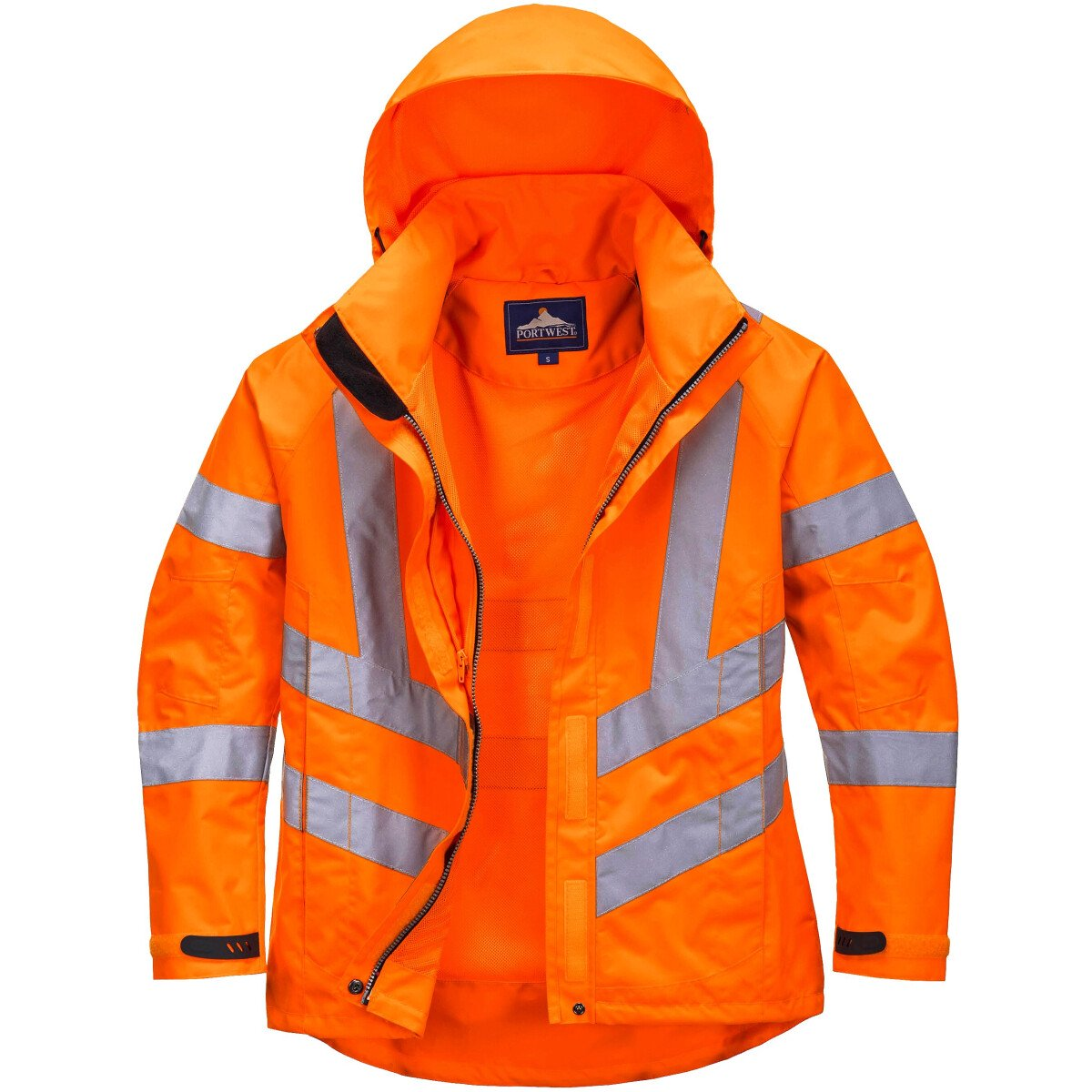 Portwest LW70 Ladies Hi-Vis Breathable Jacket High Visibility - Orange
