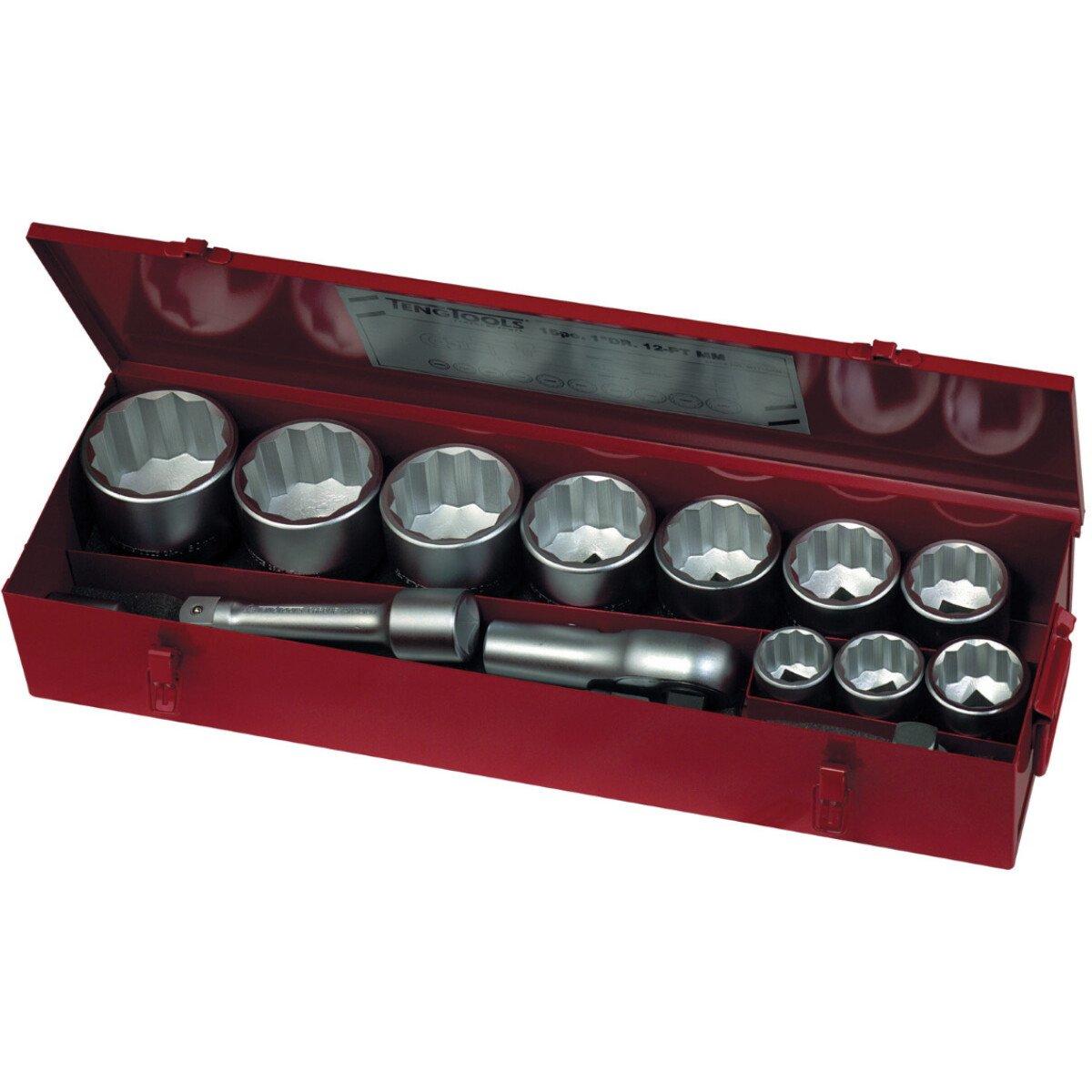 "Teng Tools M1115MM 15 Piece 1"" Drive 12 Point Metric Socket Set"