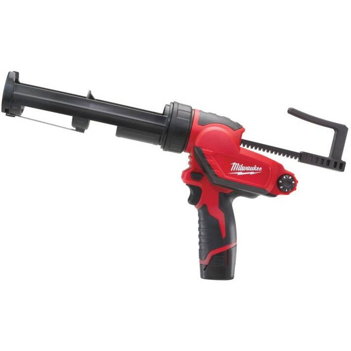 Milwaukee M12 PCG/310C-201B M12 Caulking Gun 310ml Aluminium Tube (1 x 2ah Li-ion battery, charger, bag)
