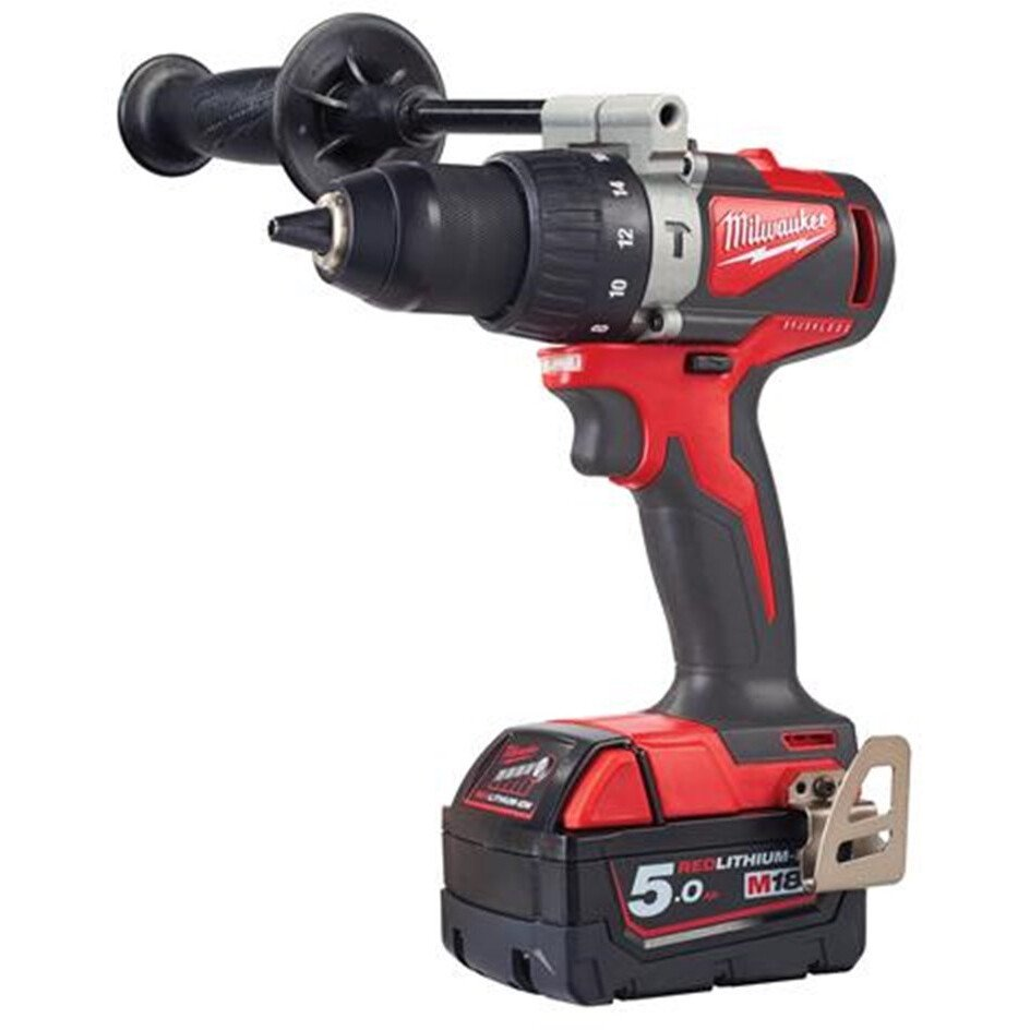 Milwaukee M18BLPD2-502X M18 Brushless Combi Drill with 2 x 5.0Ah Batteries