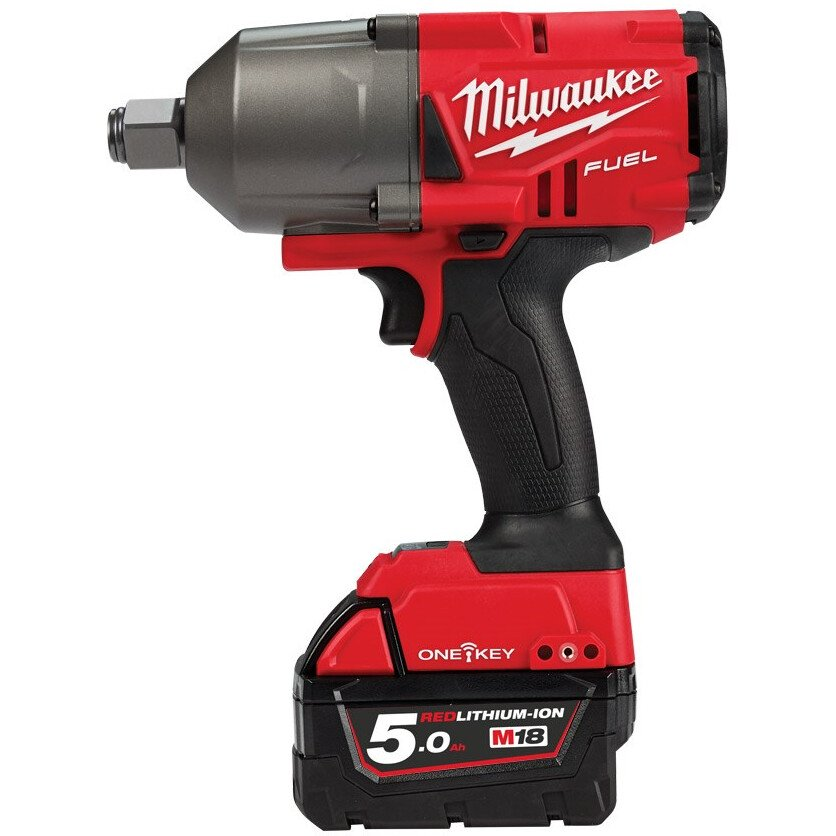 "Milwaukee M18ONECHIWF34-502X 18v One Key M18 Fuel 3/4"" Drive Impact Wrench with 2 Batteries"