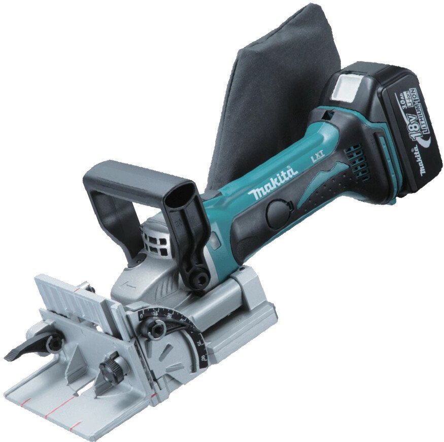 Makita DPJ180RMJ 18V Li-ion Biscuit Jointer with 2 x 4.0Ah Batteries