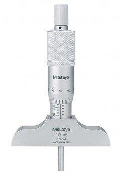 Mitutoyo 128-101 Metric Fixed Rod Depth Micrometer 0-25mm