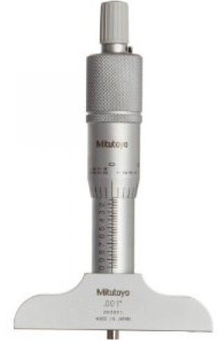 """Mitutoyo 128-105 Imperial Fixed Rod Depth Micrometer 0-1"""""""