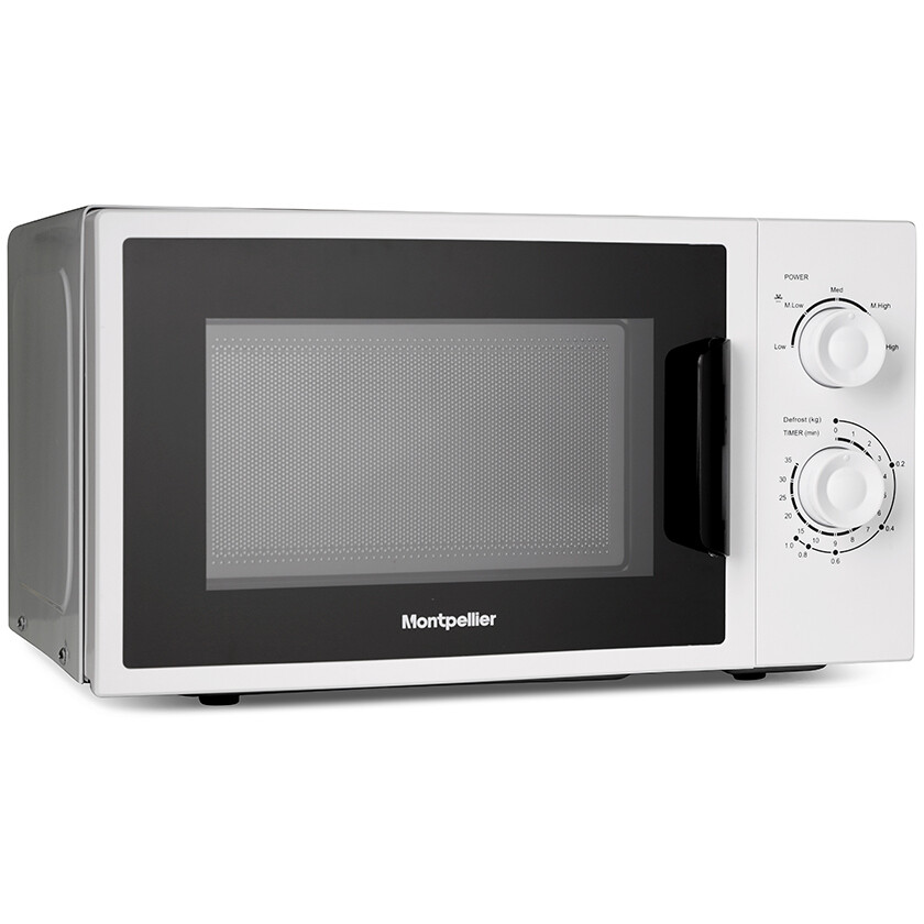 Montpellier MCM21W White 20L Solo Microwave