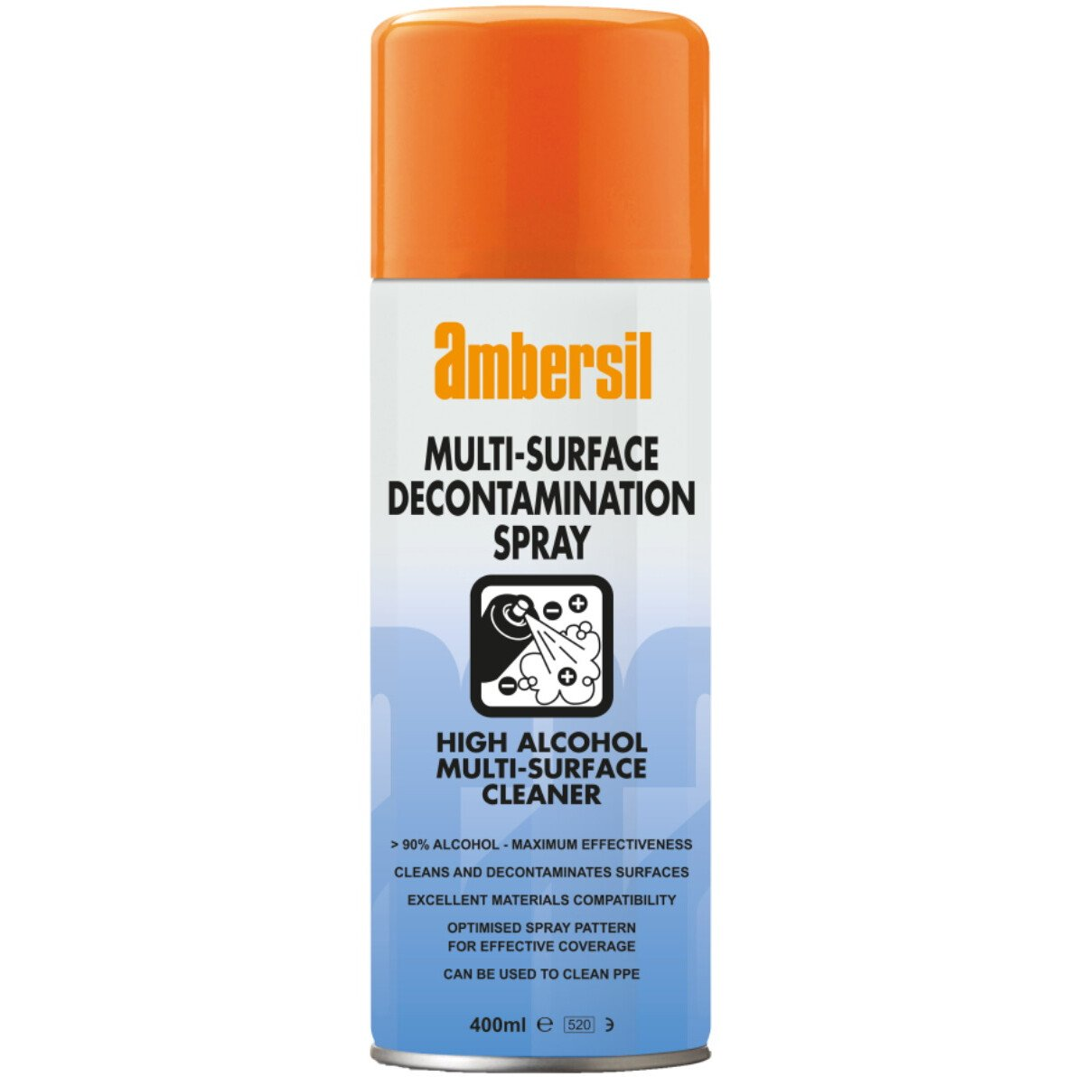 Ambersil (>90% Alcohol) Decontamination Spray for Multi-Surfaces 400ml 33339-AA