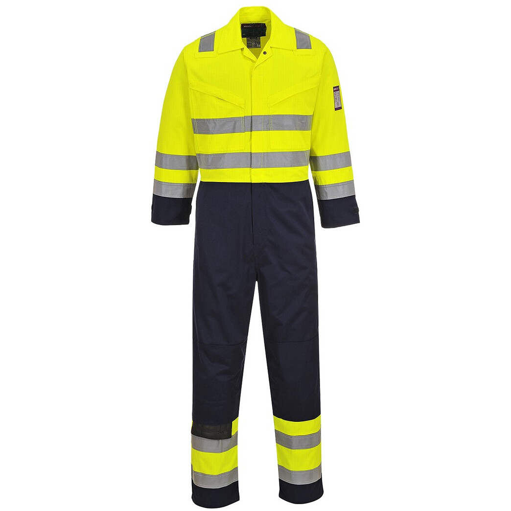7a529848e1fd Portwest MV28 Tall Hi-Vis Modaflame™ Coverall Flame Resistant - Yellow Navy  from Lawson HIS