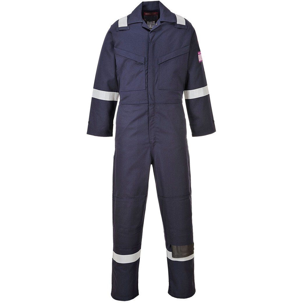 Portwest MX28 FR Modaflame Coverall Flame Resistant  - Available in Navy Blue or Orange