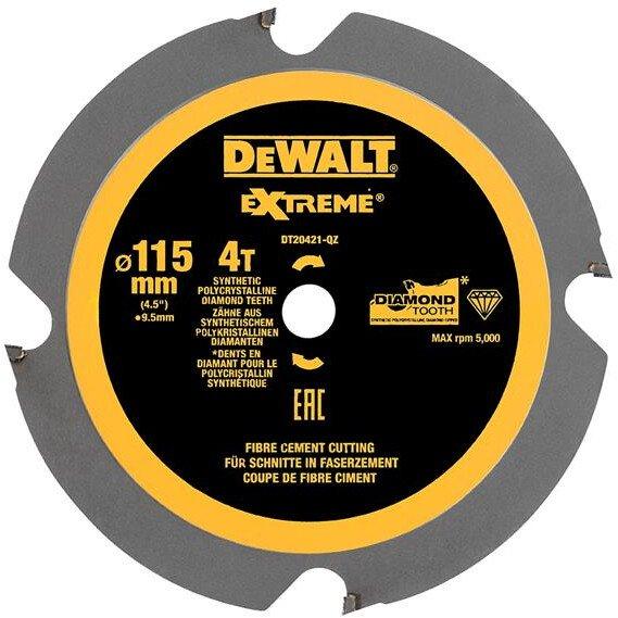 DeWalt DT20421-QZ 115 x 9.5 x 4T, Polycrystalline Diamond Circular Saw Blade For The DeWalt  DCS571 Compact Saw