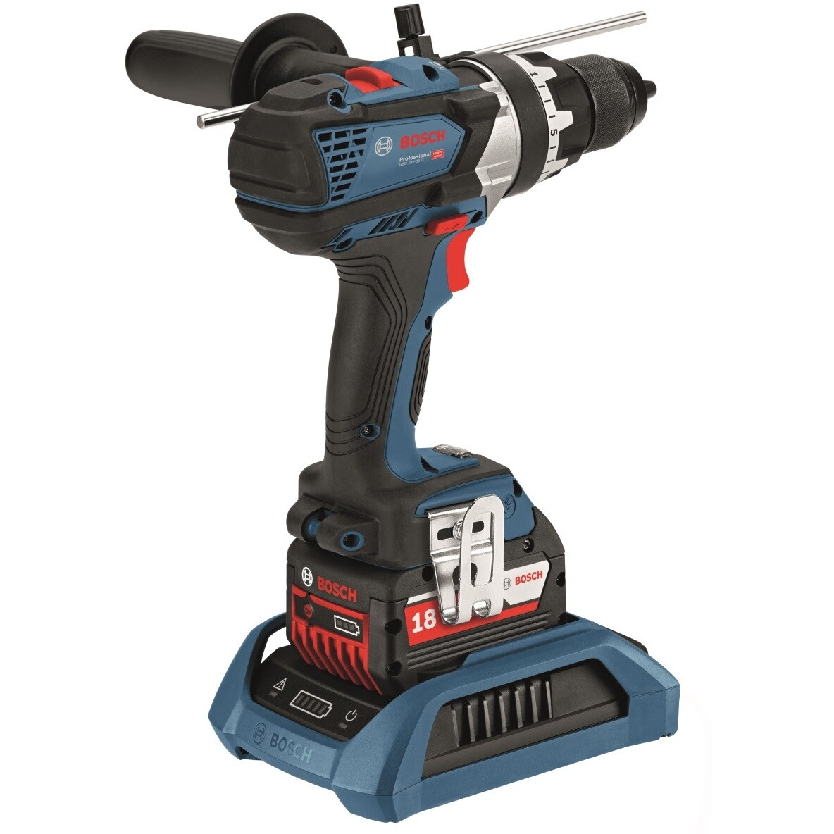 Bosch GSB 18V-85C 18V Connection Ready Combi Drill with 2x 5.0Ah Batteries in L-BOXX