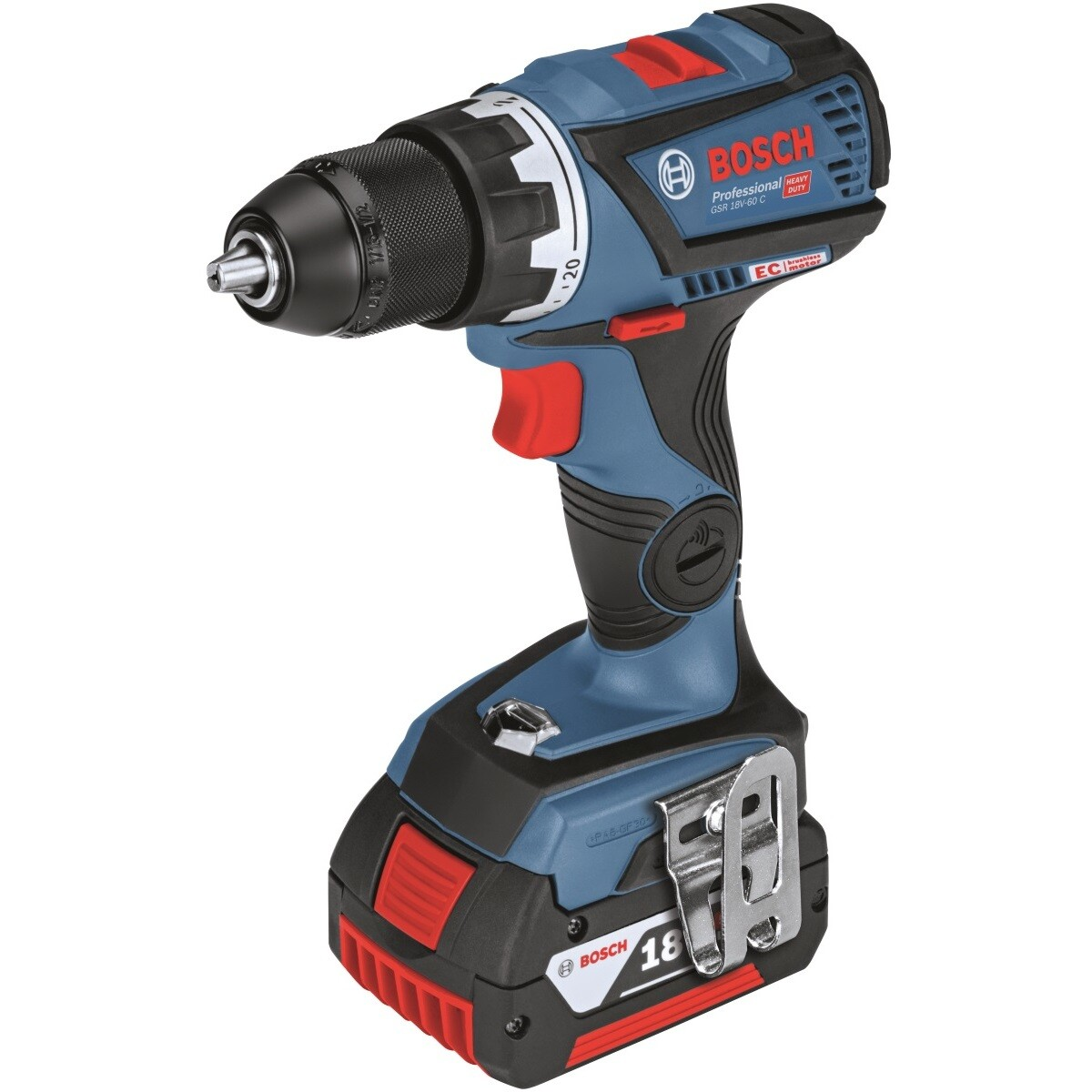 Bosch GSR 18V-60 C C Body Only 18V Drill/Driver in Carton - Connection Ready