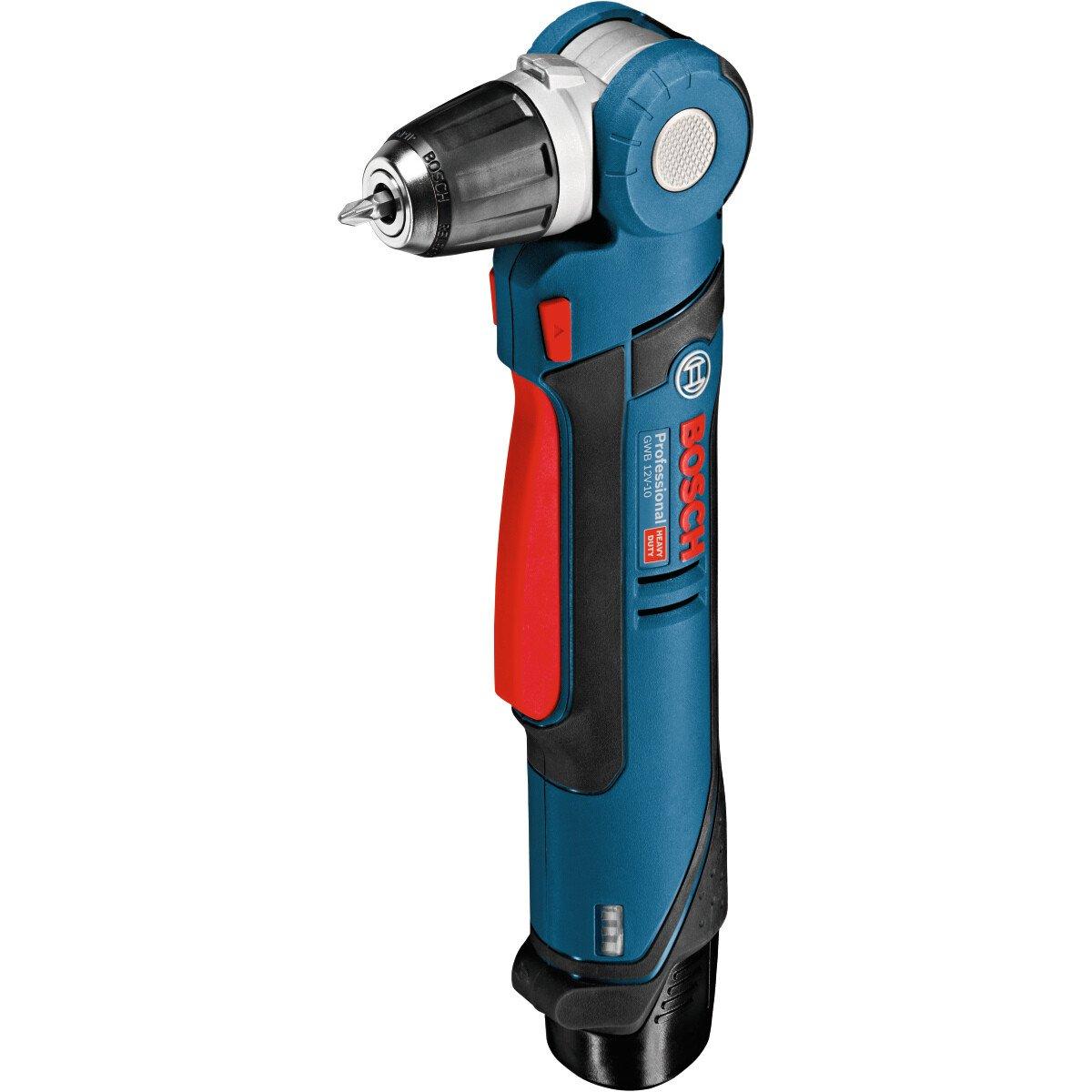 Bosch GWB12V-10 12V Cordless Angle Drill/Driver (2x2.0Ah Li-ion)