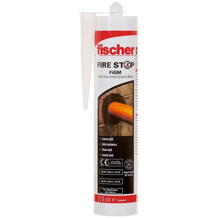 Fischer 508765 Firestop Intumescent Graphite Mastic FiGM 310ml