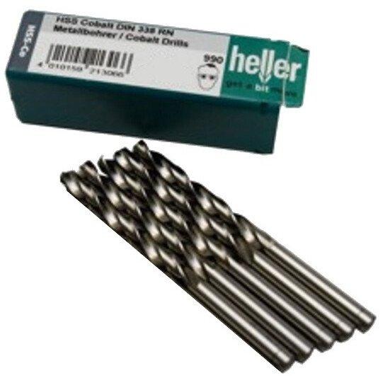 Heller 21345 5 990 5% Cobalt 11.5mm x 142mm HSS-CO Jobber Twist Drill (Packet of 5)