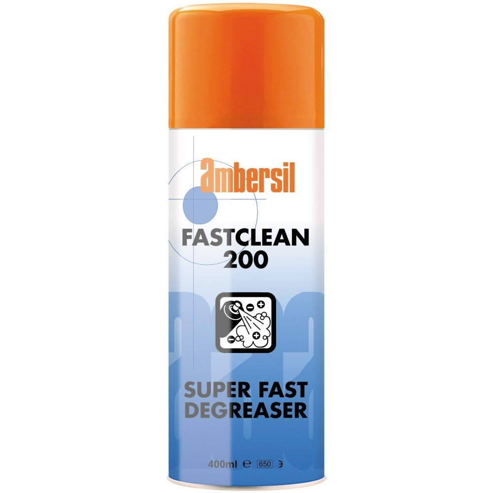 Ambersil 31890-AA Fast Clean 200 Super Fast Degreaser 400ml x Twelve (Carton of 12)