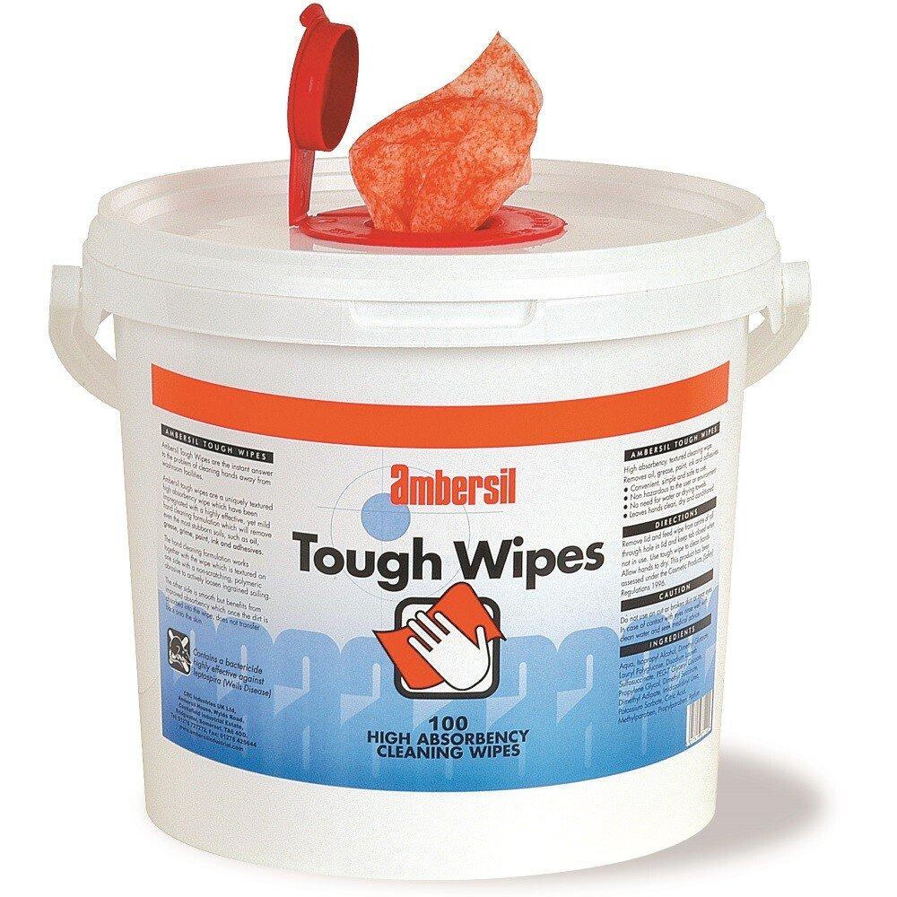 Ambersil 30767-AC Tough Wipes (Tub of 100 wipes) Toughwipes