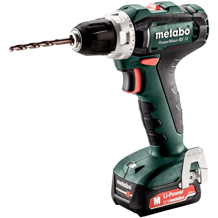 Metabo Powermaxx BS12 12v Cordless Drill/Driver with 2 x 2Ah batteries in Case