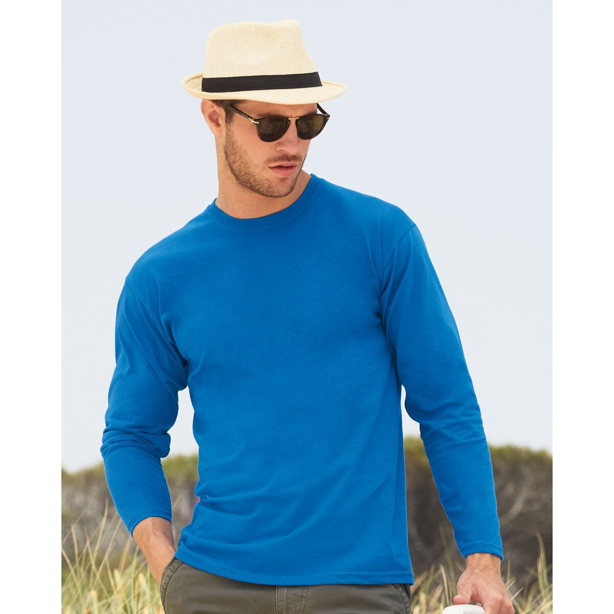 Fruit Of The Loom 61038 Valueweight Long Sleeve T-Shirt - Various Colours - 3XL - 5XL