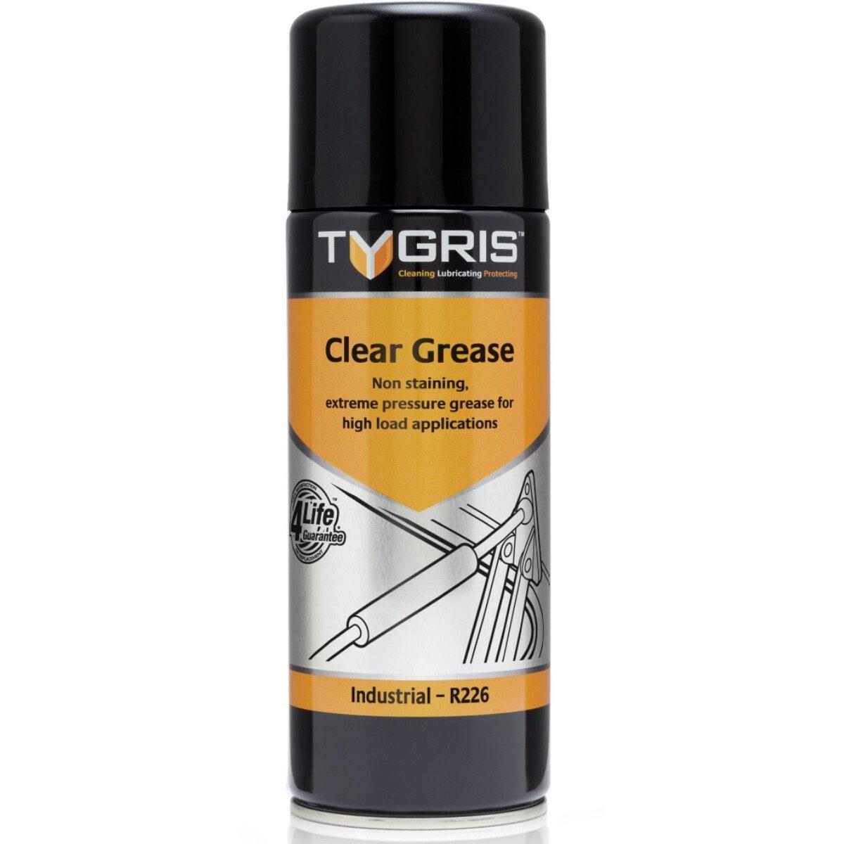 Tygris R226 Clear Grease Spray 400ml