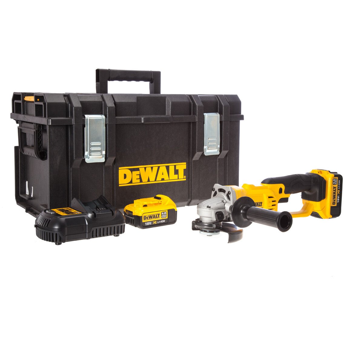 DeWalt DCG412M2 18v XR Li-ion Angle Grinder 125mm with 2 x 4.0Ah Batteries in Kitbox