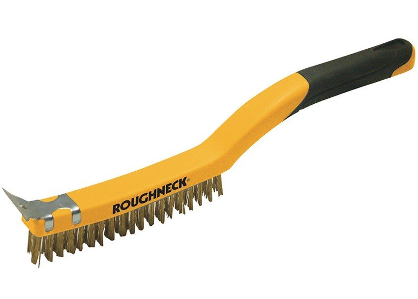 Roughneck 52-030 Carbon Steel Wire Brush Soft Grip 350mm (14in)