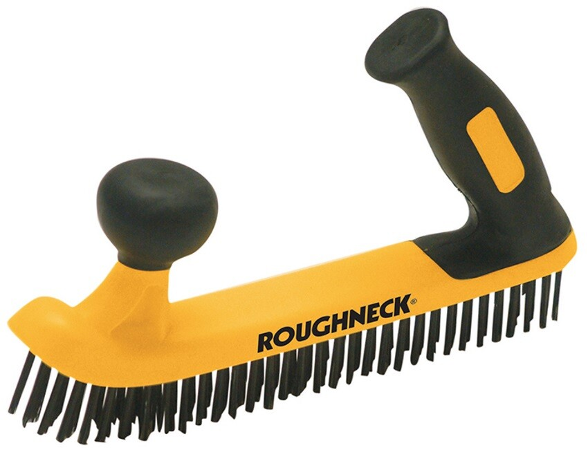 Roughneck 52-052 Two Handed Wire Brush with Soft-Grip