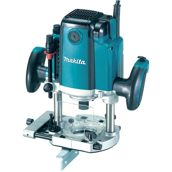 "Makita RP1801XK 110V 1/2"" Plunge Router 1650w, 70mm Plunge + Case"