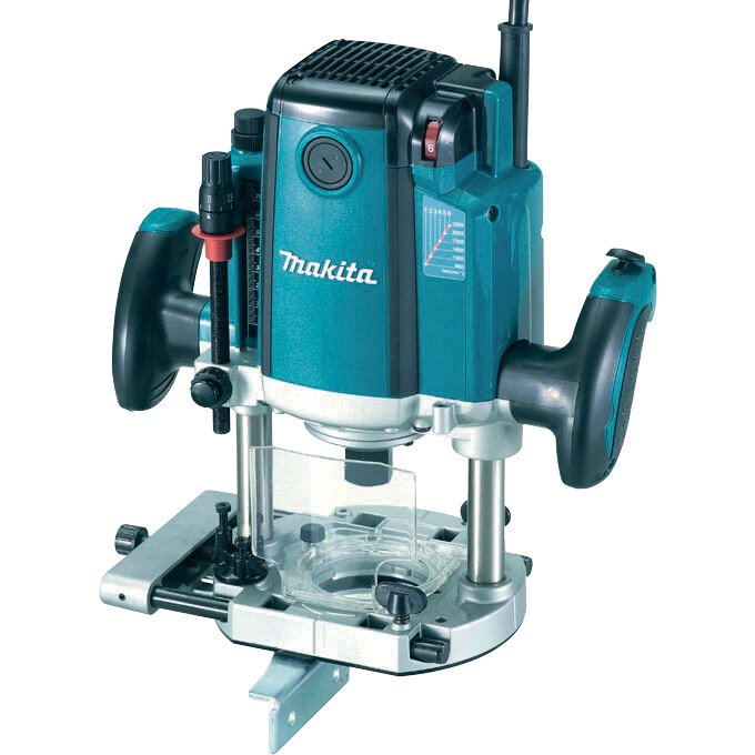 """Makita RP2301FCXK 110V 1/2"""" Plunge Router 2100w (70mm Plunge) In Carry Case"""