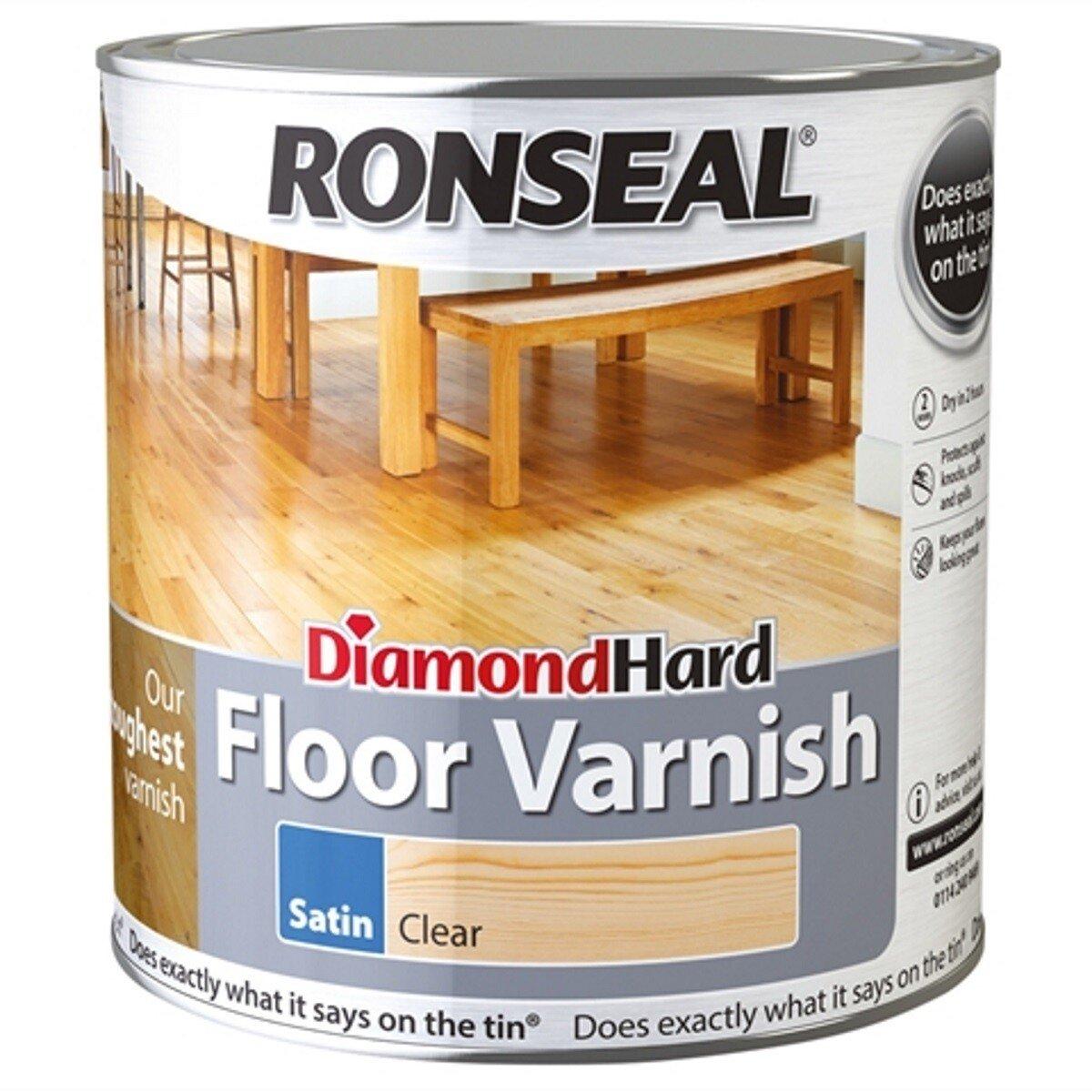 Ronseal RSLDHFV5L Diamond Hard Floor Varnish 5 Litre
