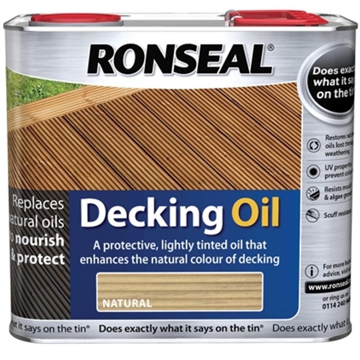 Ronseal 35190 Decking Oil Clear 5 Litre RSLDOCL5L
