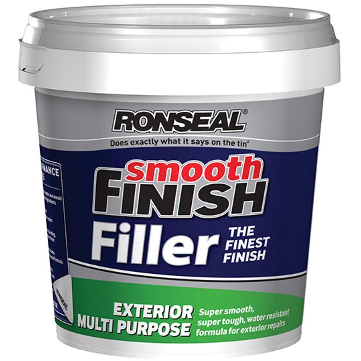 Ronseal 36562 Smooth Finish Exterior Multi Purpose Ready Mix Filler Tub 1.2kg RSLERMF12KG