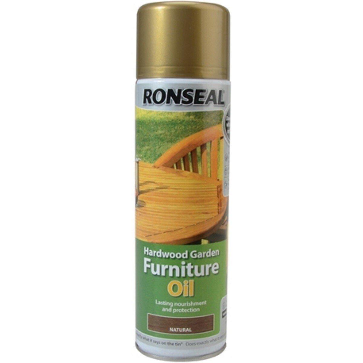 Ronseal 35823 Hardwood Furniture Oil Natural Clear Aero 500ml RSLHFONCAE