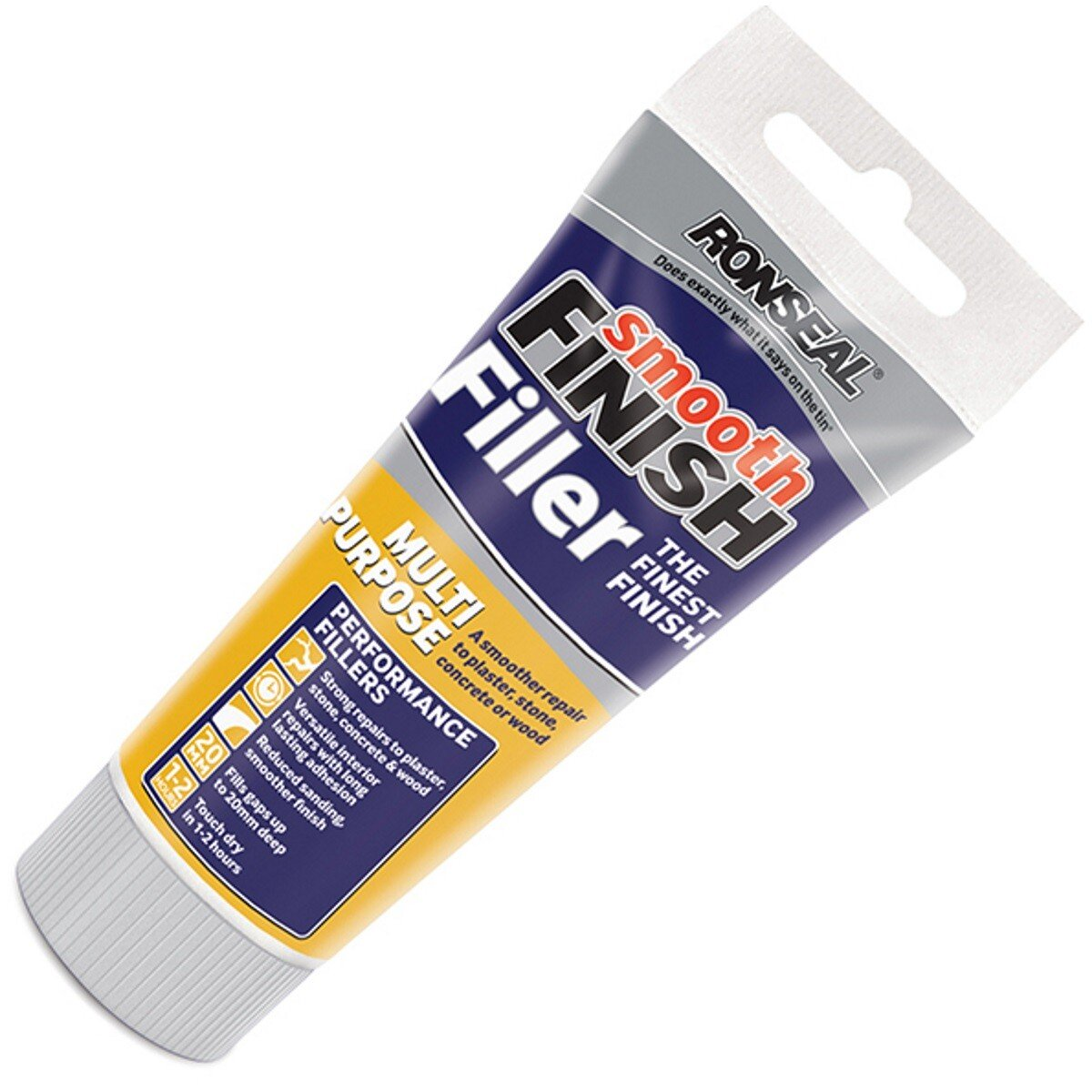 Ronseal 36544 Smooth Finish Multi Purpose Interior Wall Filler Ready Mixed 330g RSLMPRMF330G