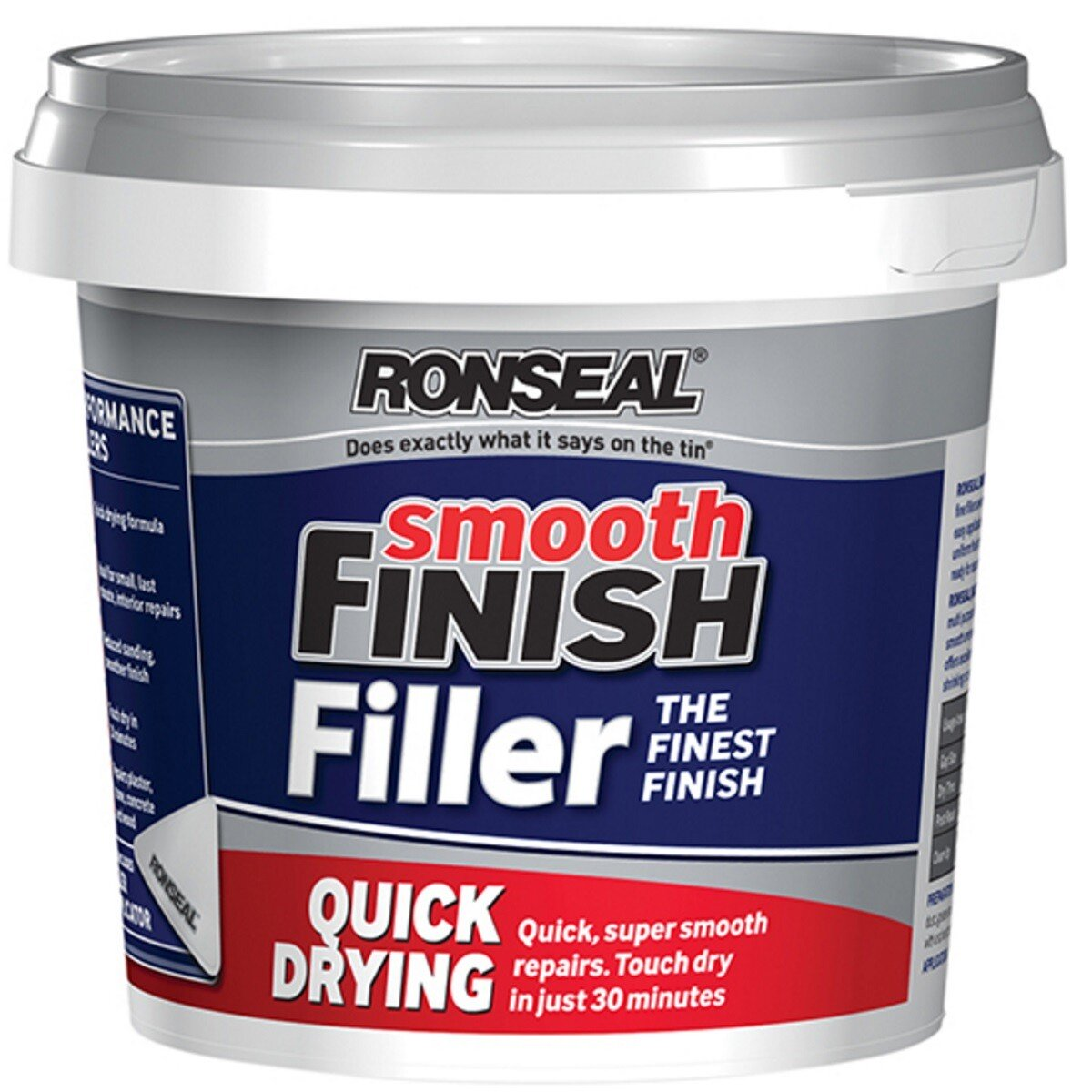 Ronseal 36553 Smooth Finish Quick Drying Multi Purpose Filler 600g RSLQDF600G