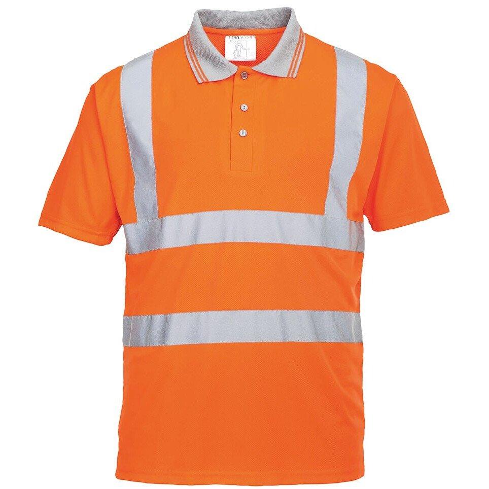 Portwest RT22 Hi-Vis Short Sleeved Polo RIS High Visibility - Orange