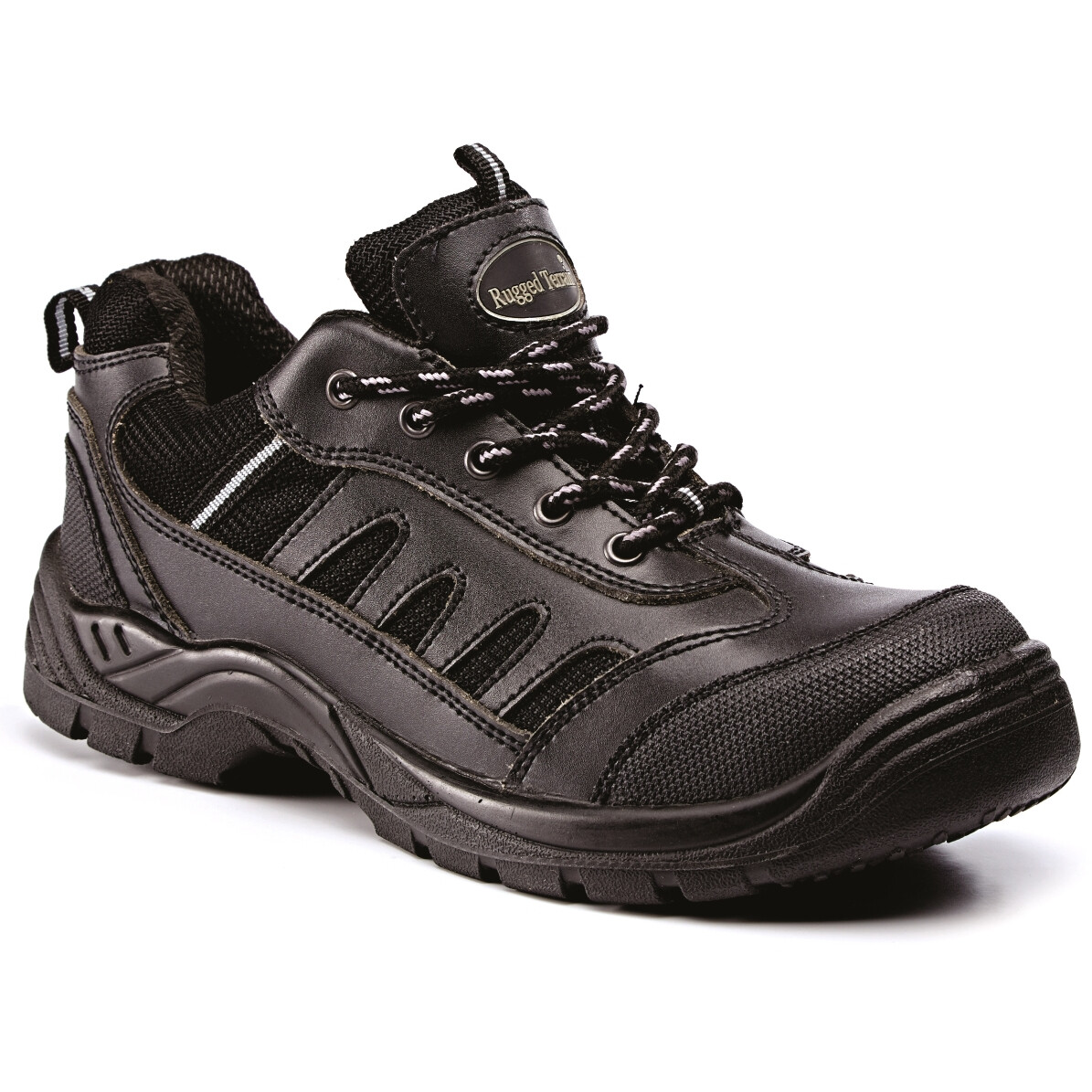Rugged Terrain RT508B Leather Safety Trainer SBP SRC - Black - Size 7 - Clearance Size