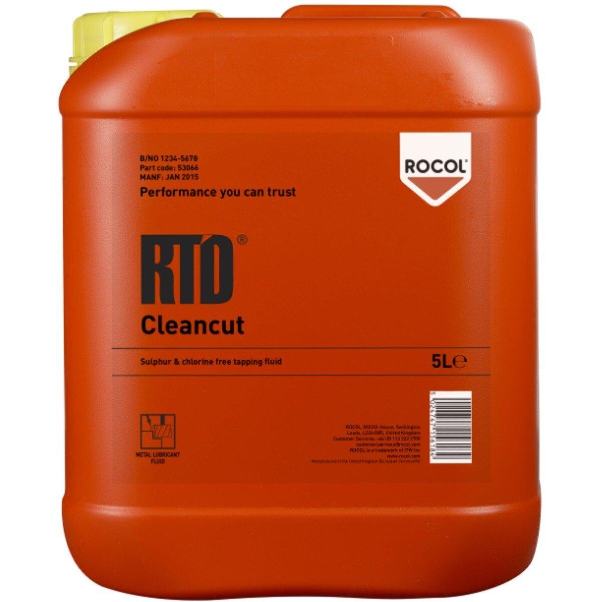 Rocol 53076 RTD Liquid - Metal Cutting Liquid Which Doubles Tool Life 5ltr