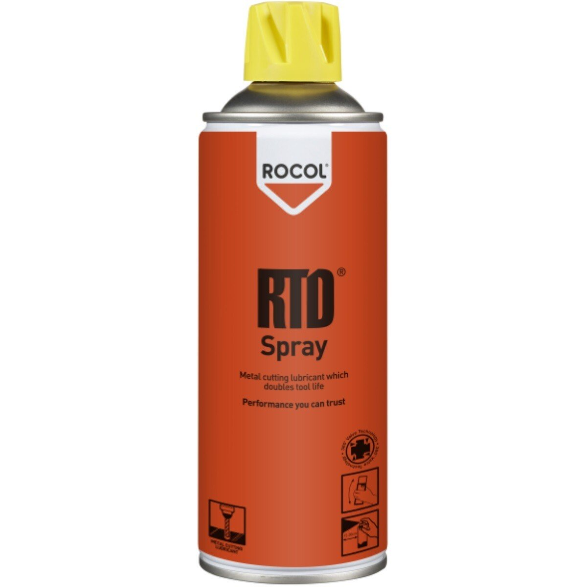 Rocol 53011 RTD Spray - Metal Cutting Lubricant which Doubles Tool Life 400ml