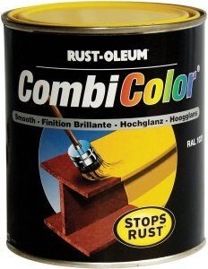 Rustoleum 7300 0 75 Traffic Red RAL 3020 CombiColor 3-in-1 Primer/Finish  750ml
