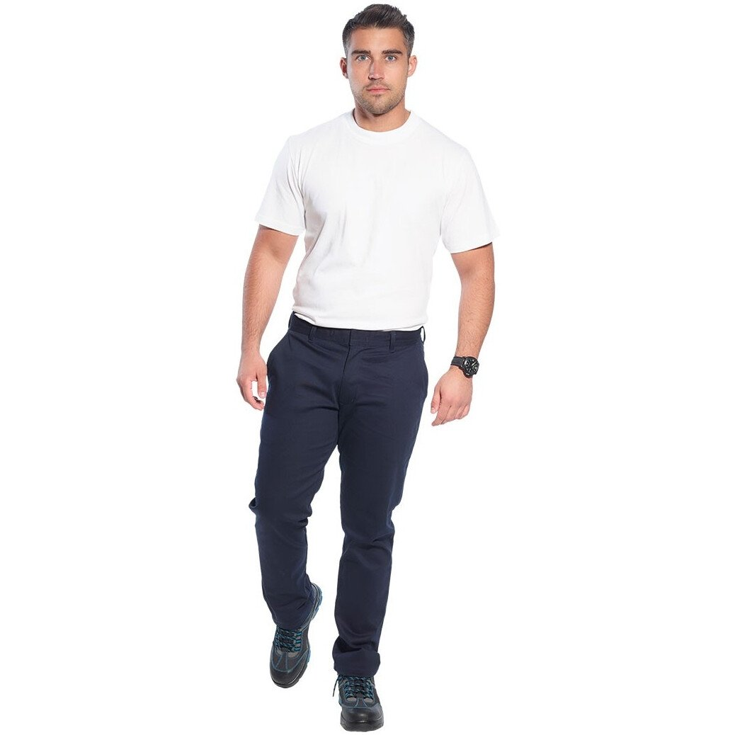 Portwest S232 Stretch Slim Chino Trouser Workwear - Regular Leg Length