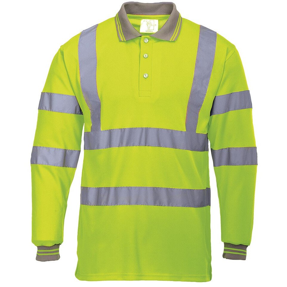 Portwest S277 Hi-Vis Long Sleeved Polo High Visibility