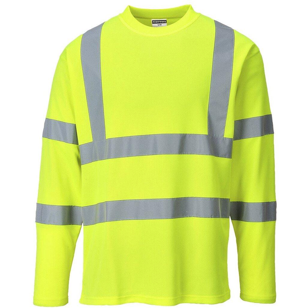 Portwest S278 Hi-Vis Long Sleeved T-shirt High Visibility