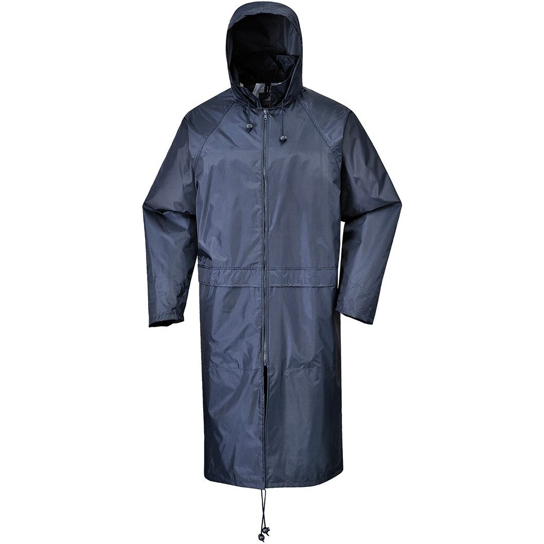 Portwest S438 Classic Adult Rain Coat Rainwear - Navy Blue or Yellow