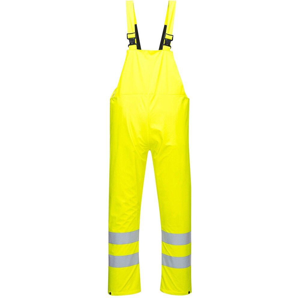 Portwest S497 Hi-Vis Sealtex Ultra Bib & Brace High Visibility Rainwear - Yellow