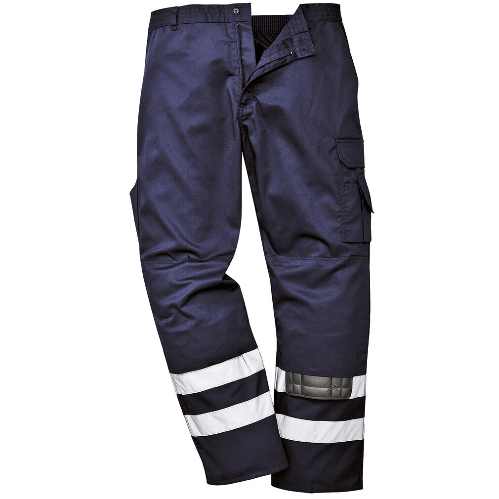 "Portwest S917 Iona Safety Combat Trousers Dark Navy Blue Medium (33""-34"" chest - 33"" leg)"