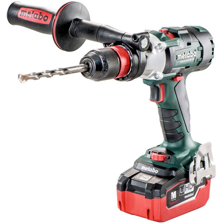 "Metabo SB18LTX-3BLQI Body Only 18V Brushless 3-Speed Combi Drill with ""Quick"" in Metaloc Case"