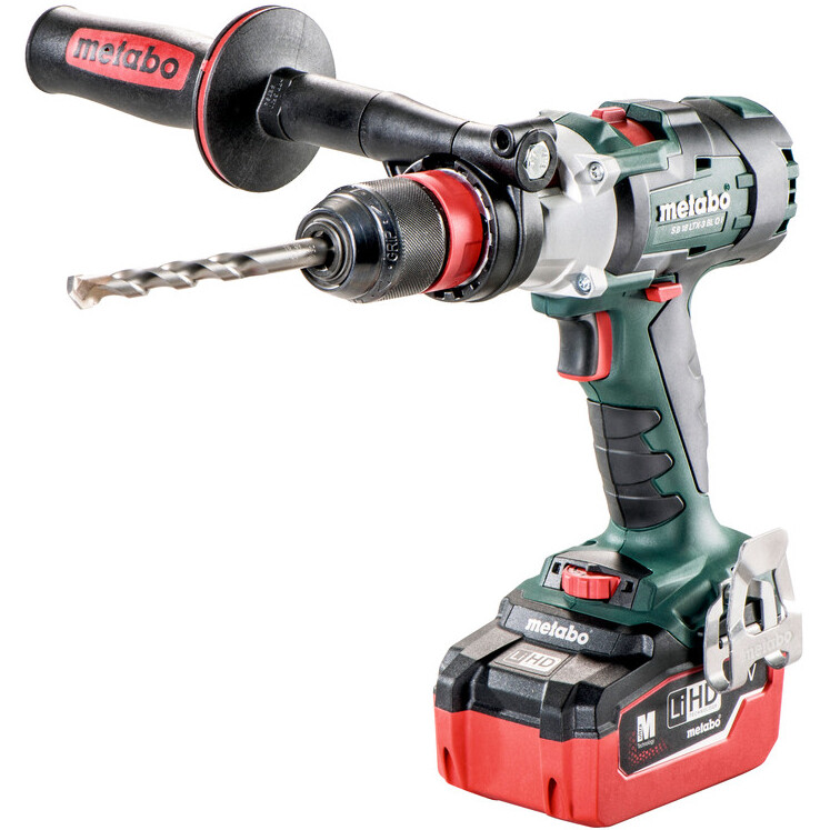 """Metabo SB18LTX-3BLQI Body Only 18V Brushless 3-Speed Combi Drill with """"Quick"""" in Metaloc Case"""